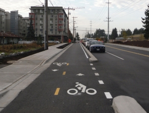Linden Ave N cycle track