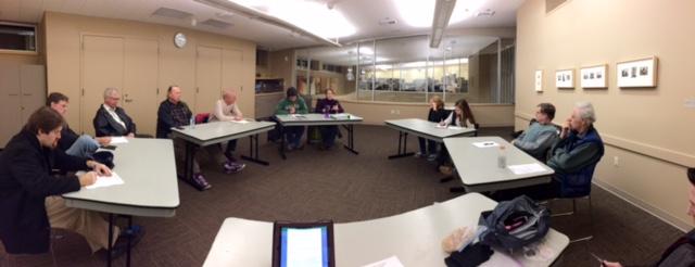 Meeting group last night.