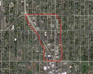 The area in question that we would chat with DPD about.