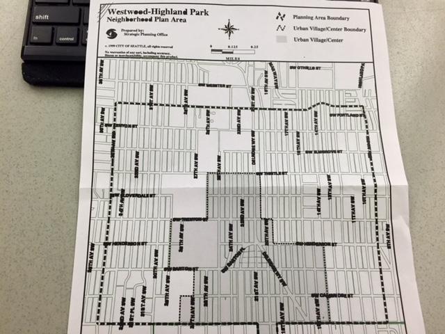 Westwood & Highland Park Urban Village Map.
